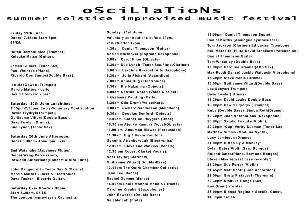 Oscillations-flyerback